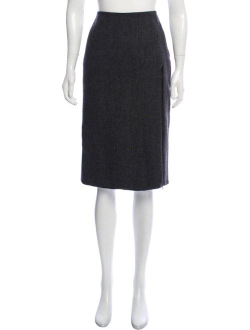 Prada Wool Pencil Skirt black