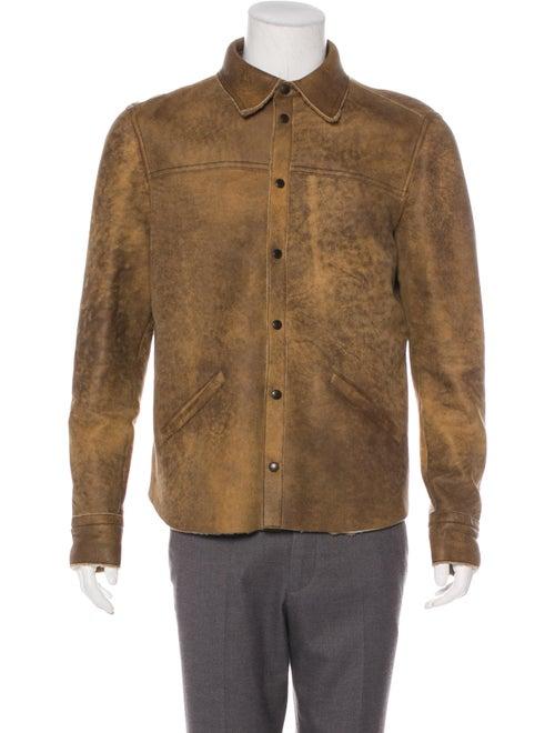 Prada Shearling-Lined Coaches Jacket