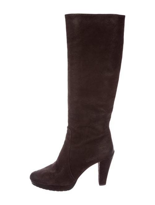 Prada Suede Knee-High Boots Brown - image 1