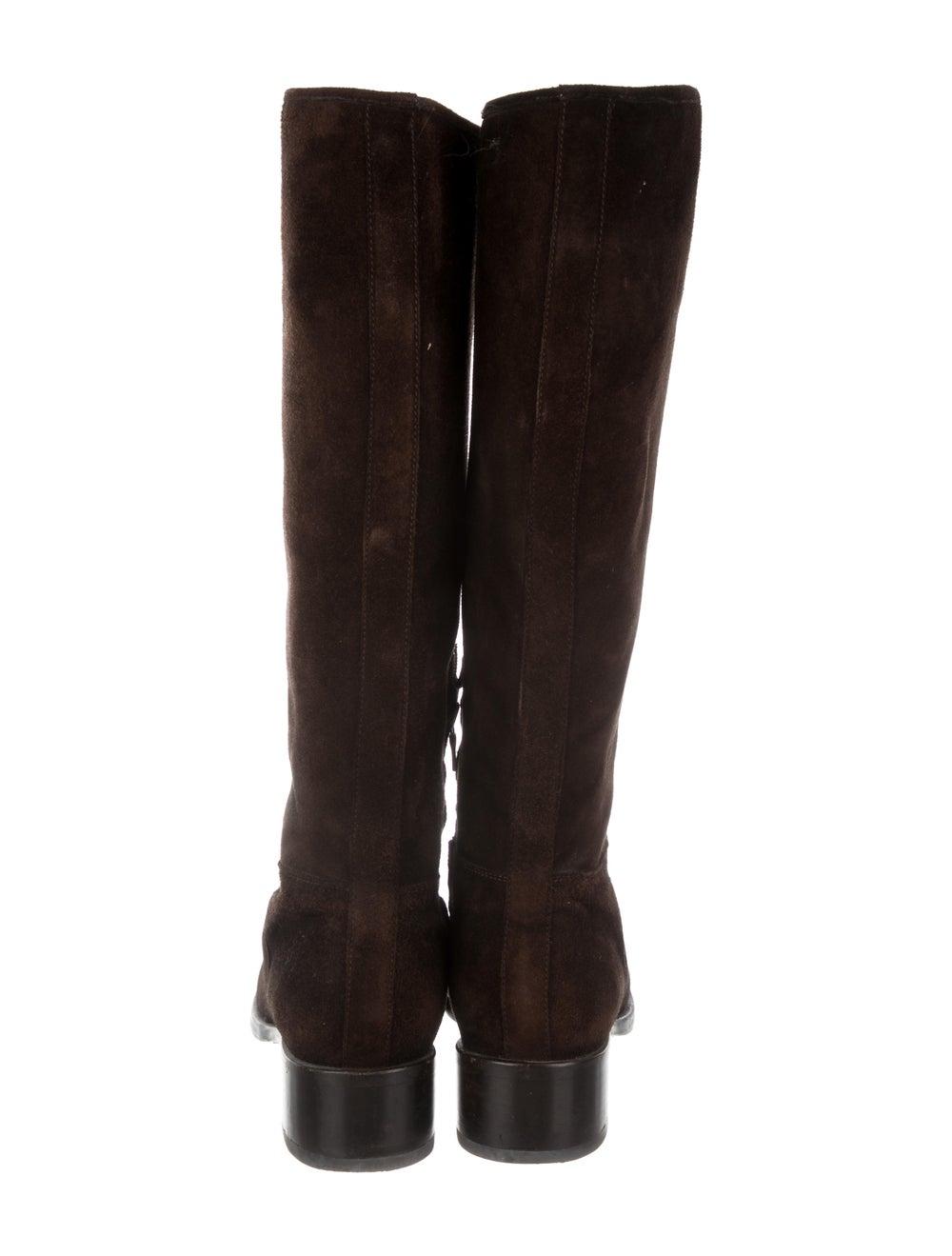 Prada Suede Knee-High Boots Brown - image 4