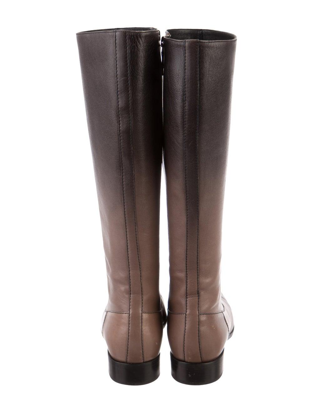 Prada Leather Knee-High Boots Brown - image 4