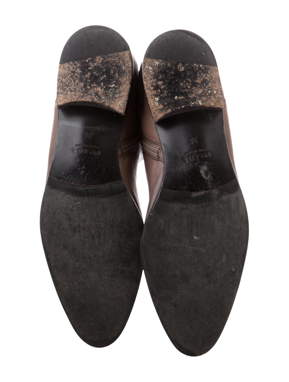 Prada Leather Knee-High Boots Brown - image 5