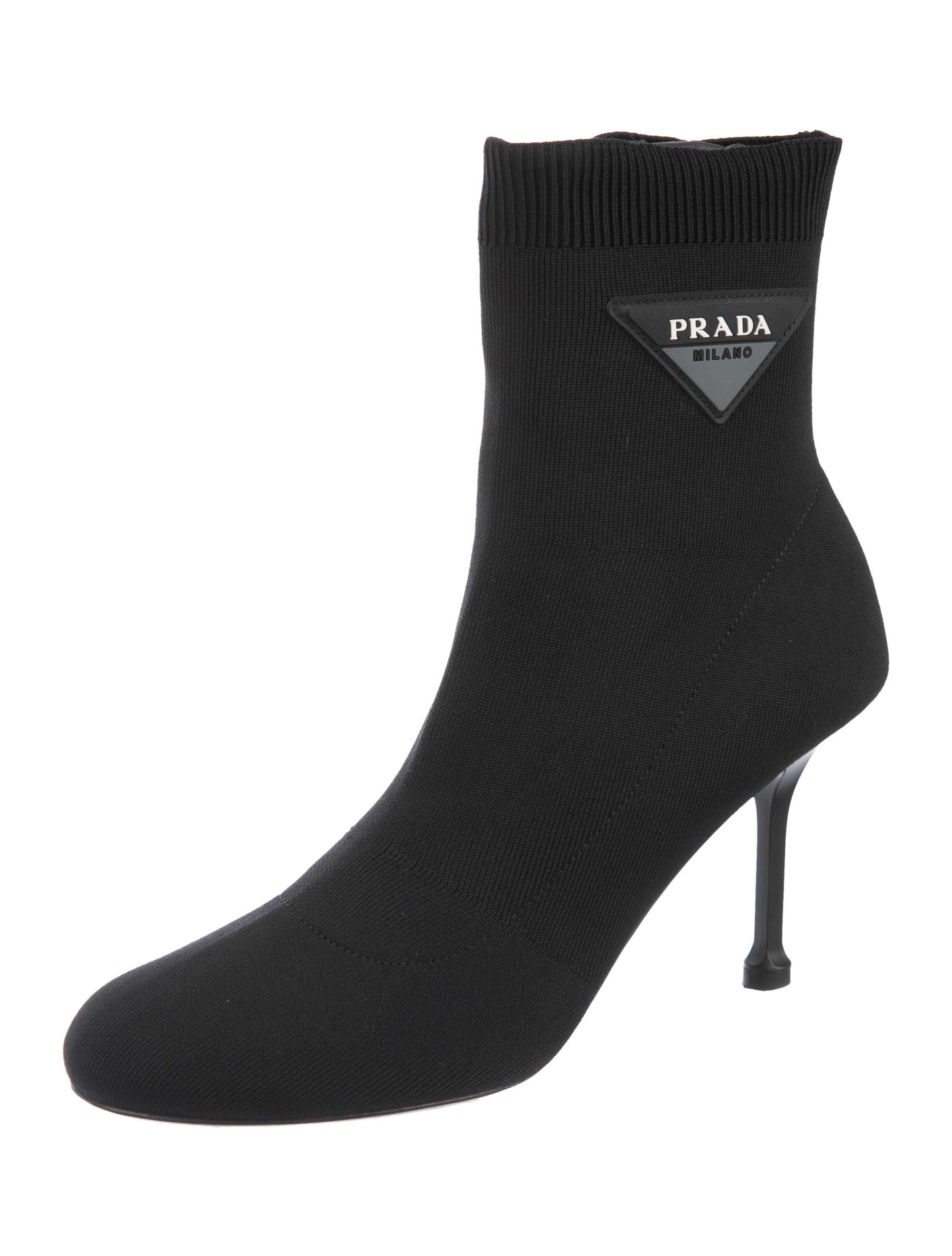 Prada Knit Sock Booties - Shoes