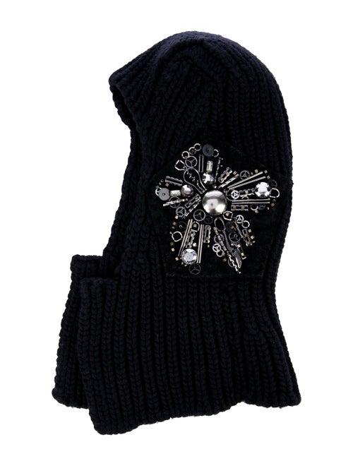 Prada Embellished Wool & Cashmere-Blend Balaclava… - image 1
