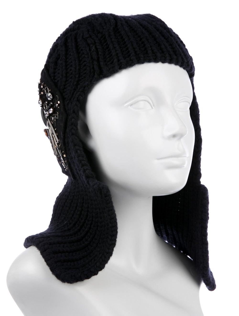 Prada Embellished Wool & Cashmere-Blend Balaclava… - image 3