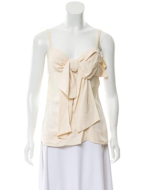 Prada Sleeveless Bow-Tie Top