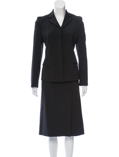 Prada Blazer and Skirt Set Black