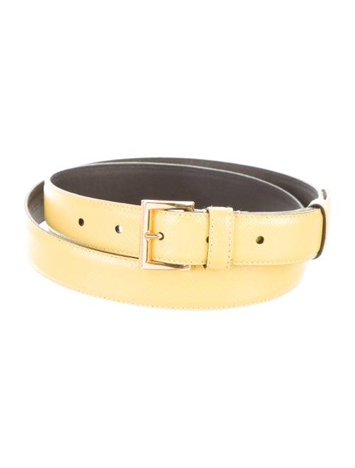 Prada Leather Hip Belt Yellow