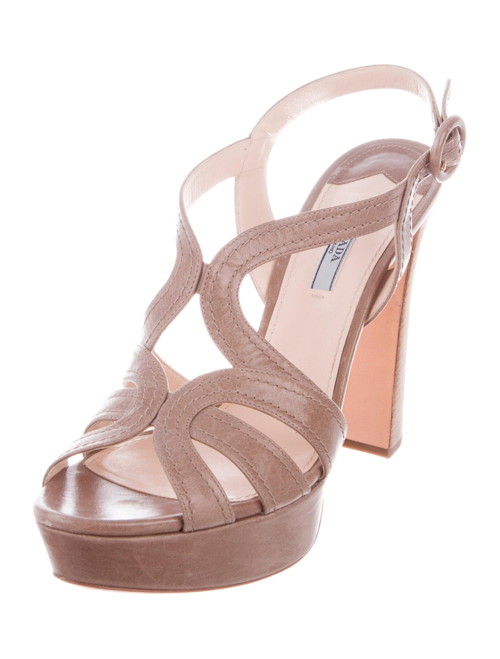 Prada Leather Platform Sandals - image 2