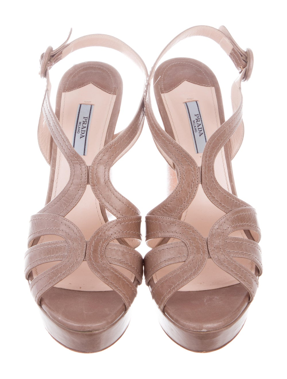Prada Leather Platform Sandals - image 3