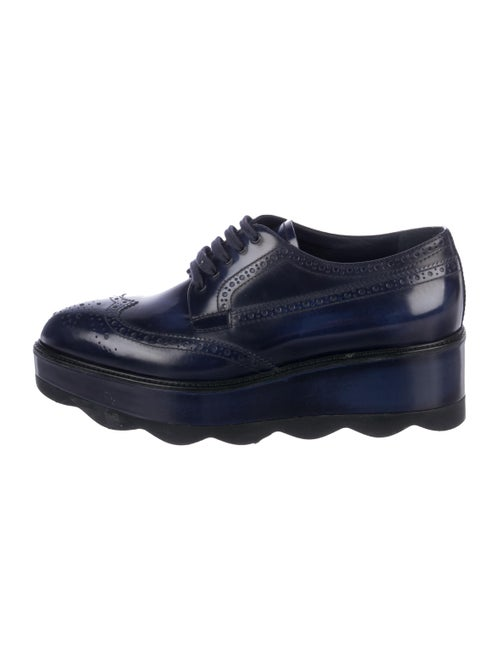 Prada Brogue Platform Oxfords blue