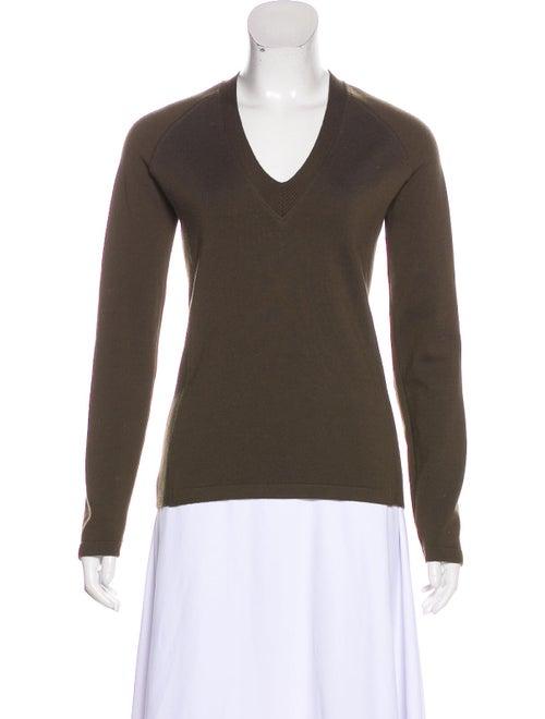Prada Wool Knit Sweater Green