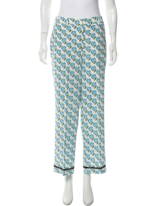 Prada Silk Printed Pajamas Blue