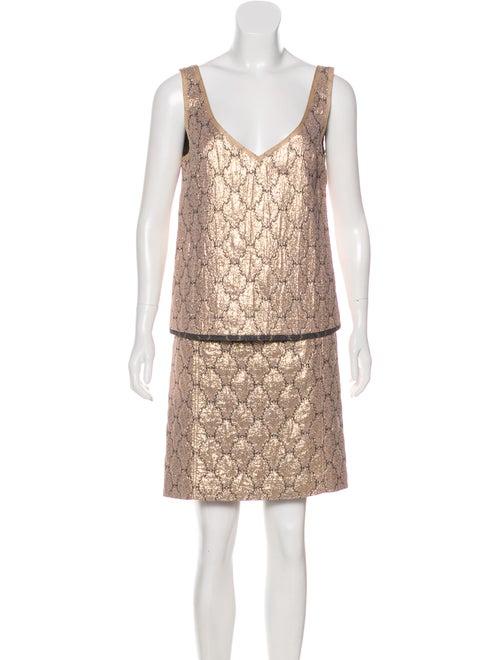 Prada Metallic Knee-Length Skirt Set Metallic