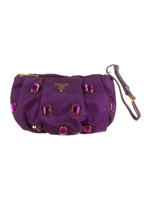 d36be70e65c1 Prada Tessuto Pietre Wristlet - Handbags - PRA37954   The RealReal