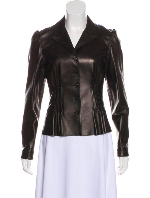 Prada Leather Blazer Black