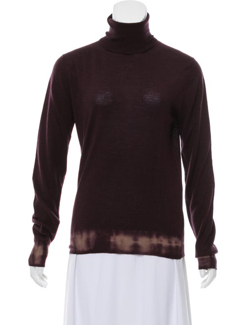 Prada Tie-Dye Print Turtleneck Sweater Purple