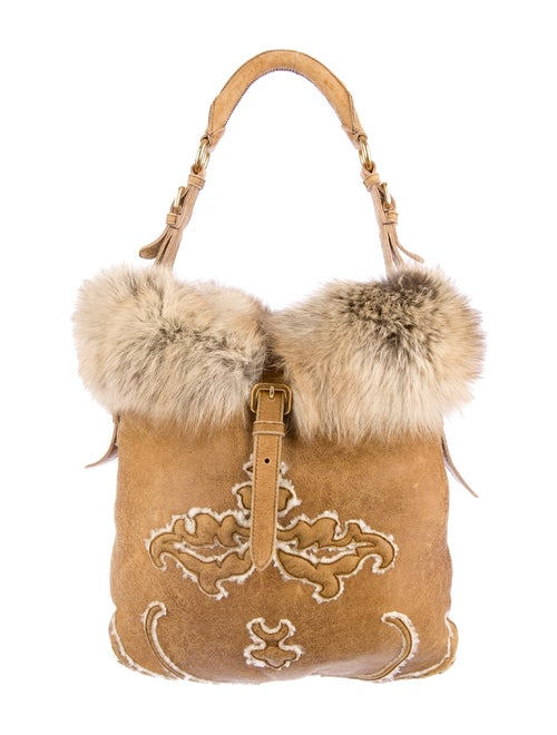 a85389a5652c Prada Fox Fur and Shearling Hobo w/ Tags - Handbags - PRA38537   The ...