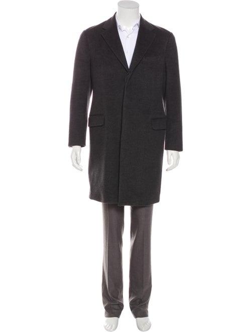 Prada Camel Notch-Lapel Overcoat