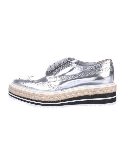 Prada Platform Low-Top Sneakers Silver