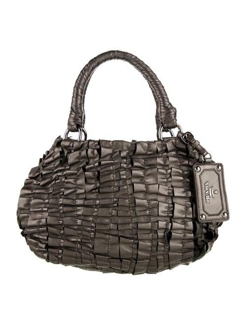 Prada Nappa Ruched Bag Metallic