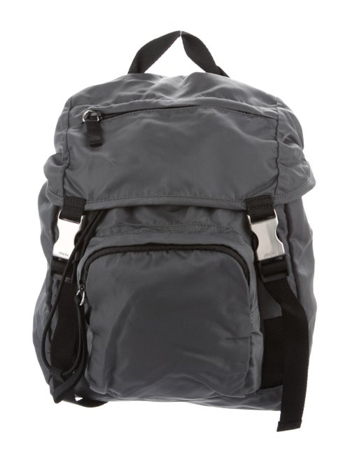 Prada Tessuto Nylon Backpack Grey