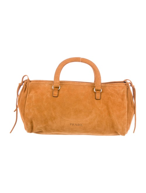 Prada Scamosciato Handle Bag Tan