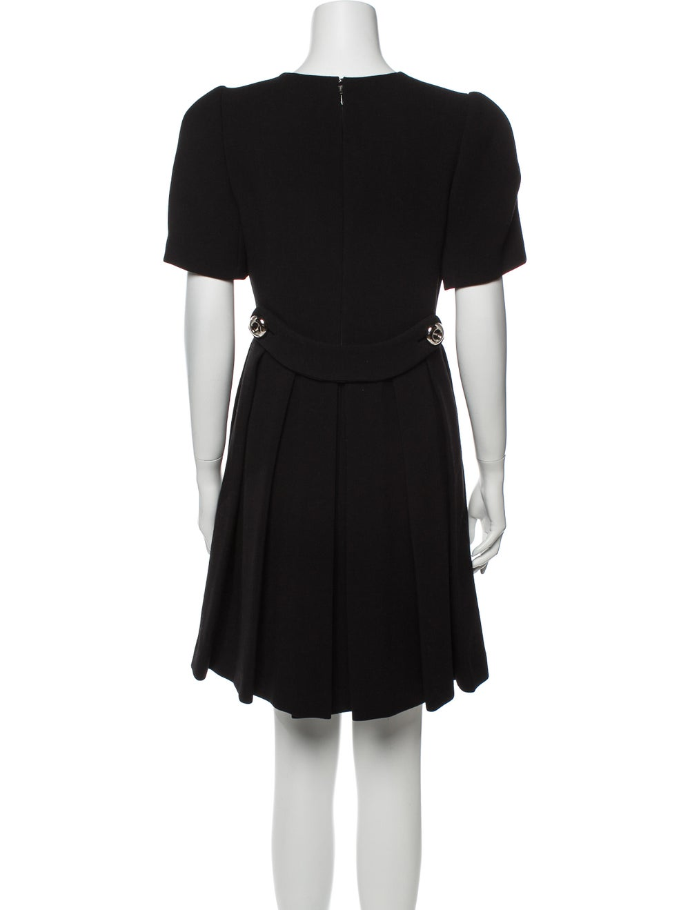 Prada Virgin Wool Mini Dress Wool - image 3