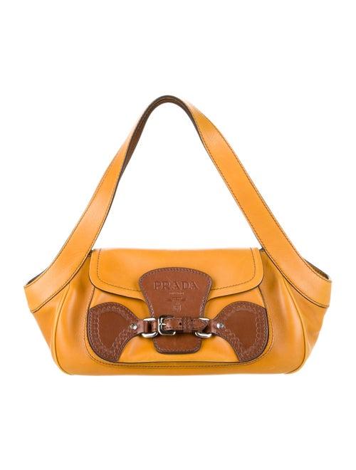 Prada Saddle Buckle Bag Yellow