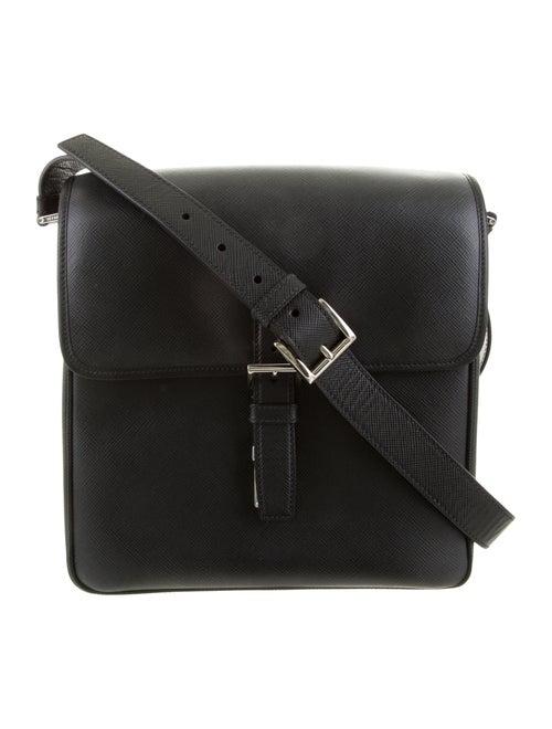 Prada Saffiano Messenger Bag black