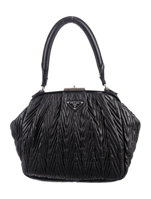 Prada Mattelassé Frame Bag Black