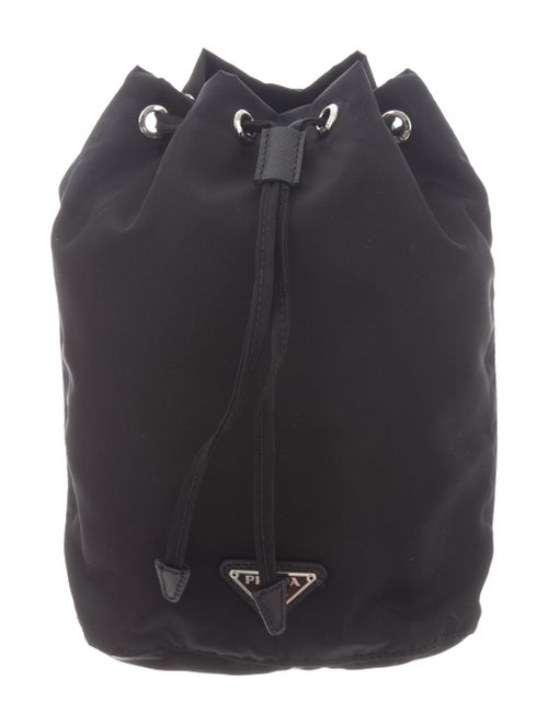 Prada Tessuto Drawstring Bag Black