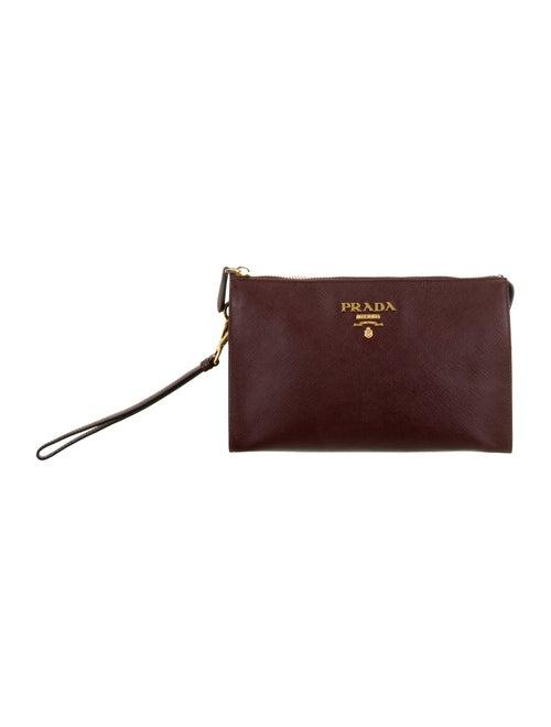 Prada Saffiano Cosmetic Bag Plum