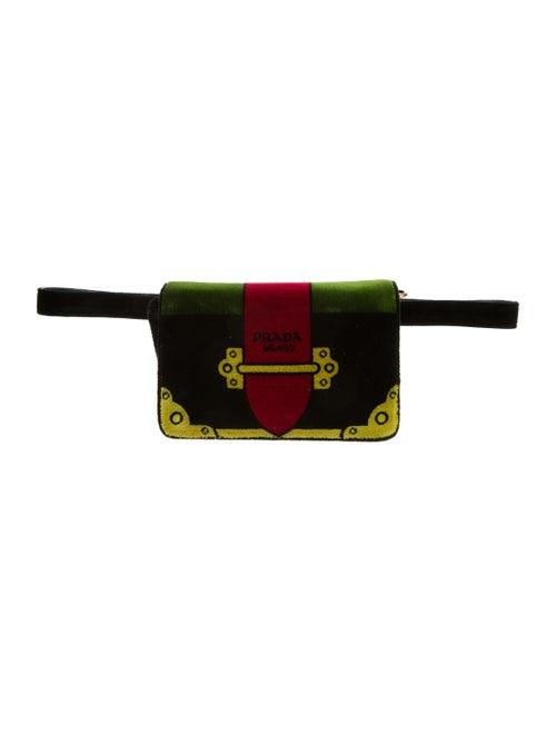 Prada Trompe L'oeil Cahier Belt Bag Black