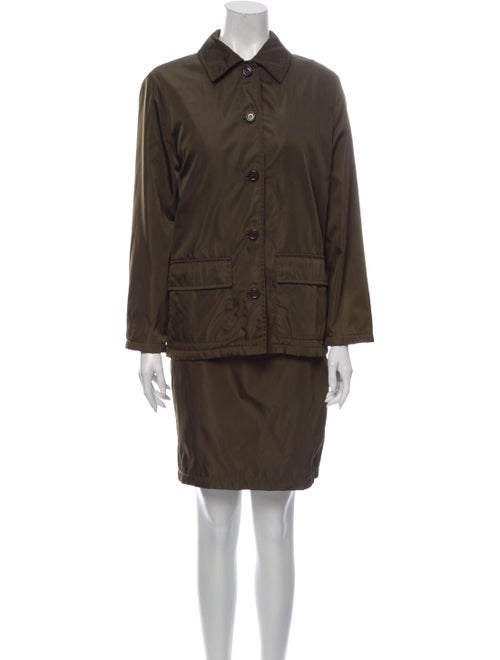 Prada Skirt Suit Green
