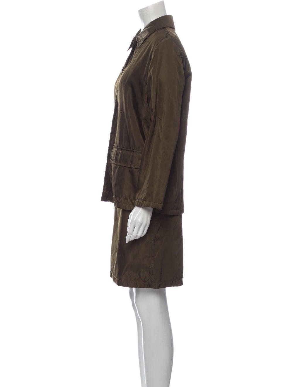 Prada Skirt Suit Green - image 2