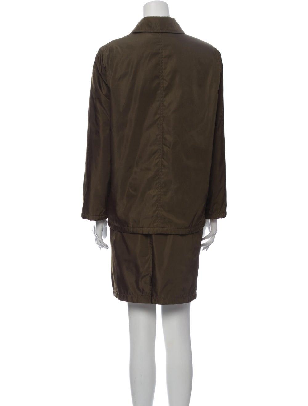 Prada Skirt Suit Green - image 3