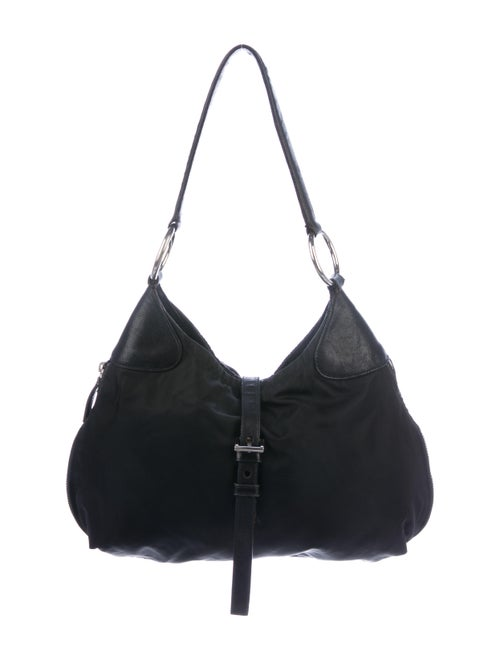 Prada Tessuto Expandable Hobo Black