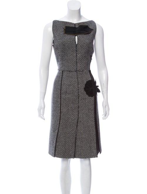 Prada Knit Embellished Dress Black