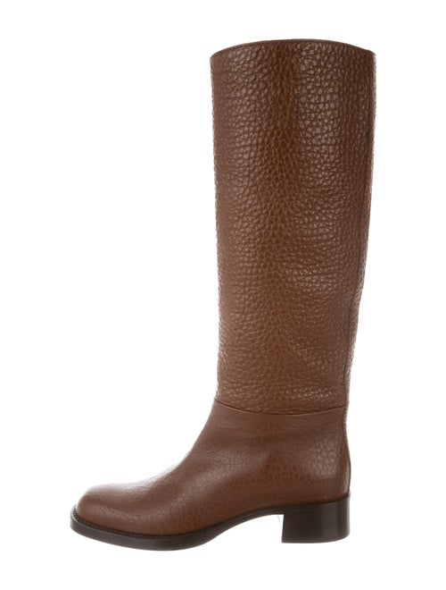 Prada Leather Knee-High Boots w/ Tags Brown