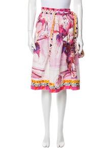Prada Knee-Length Printed Skirt