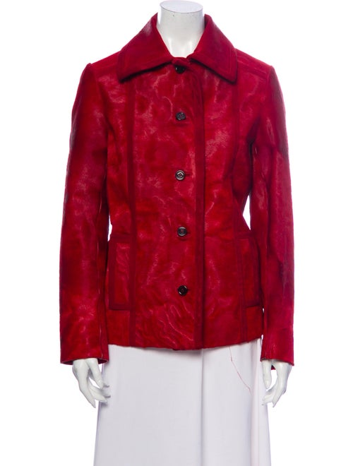Prada Leather Jacket Red