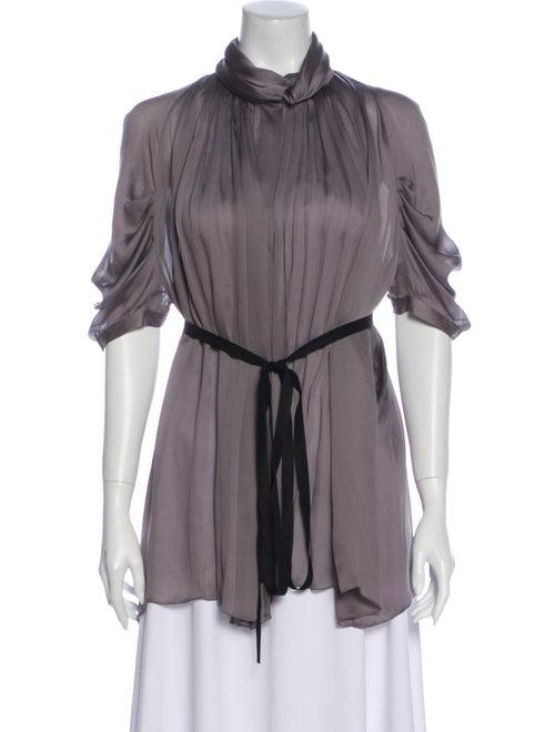 Prada 2007 Silk Blouse Grey