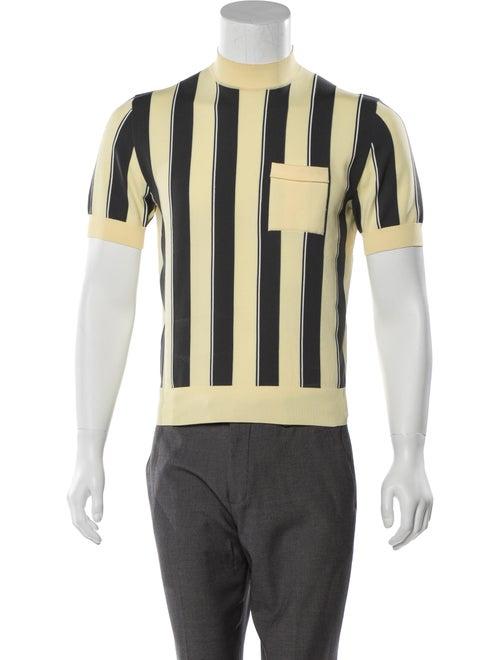 Prada Striped Knit Sweater yellow