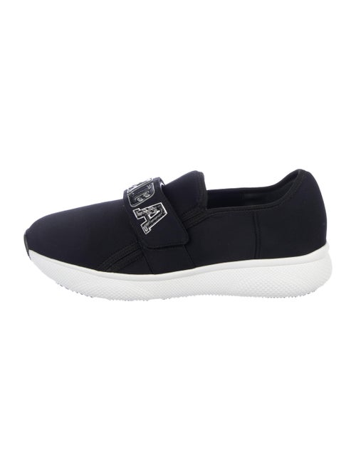 Prada Round-Toe Sneakers Black