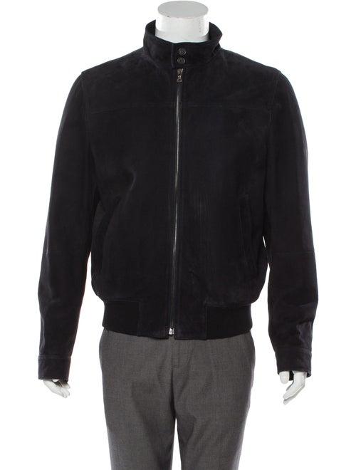 Prada Suede Wool-Trimmed Jacket black