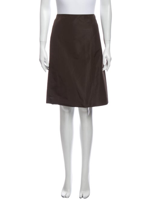 Prada Knee-Length Pencil Skirt Brown