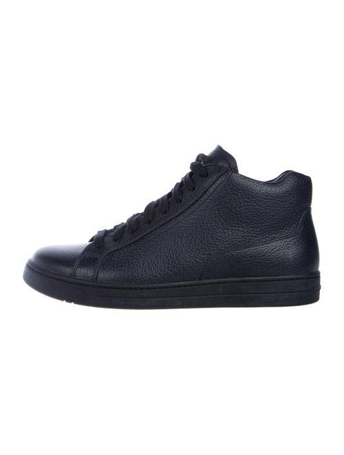 Prada Leather High-Top Sneakers