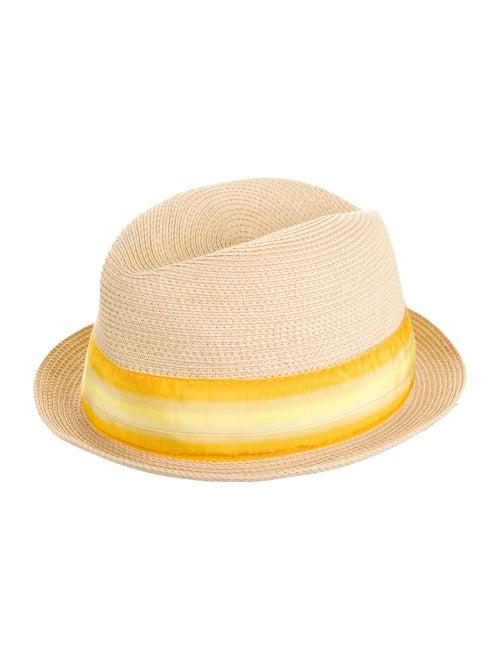 Prada Woven Fedora Hat tan