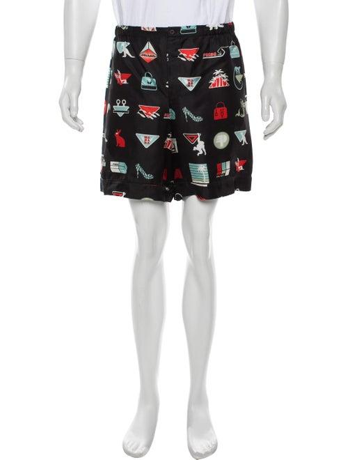 Prada Silk Pajama Shorts black